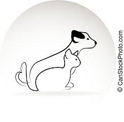 Cat and dog image logo