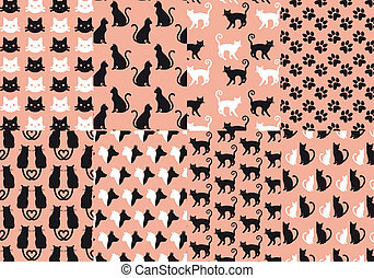 cat and dog seamless pattern vector