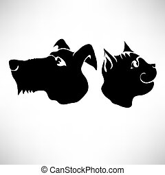 Cat and Dogs Heads
