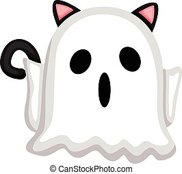 Cat and the ghost costume