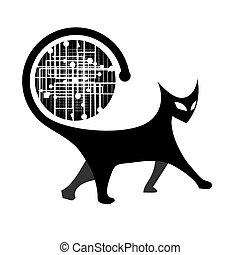 Cat art design
