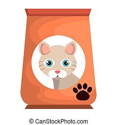 cat bag food mascot