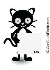 Cat Banner Illustration