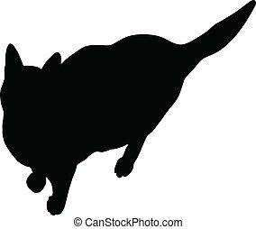 Cat, black silhouette