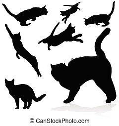 cat black silhouettes