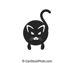 Cat breeds cute pet animal set vector