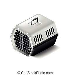 Cat carrier isolated on white vector