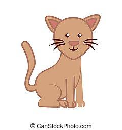 cat cartoon isolated icon