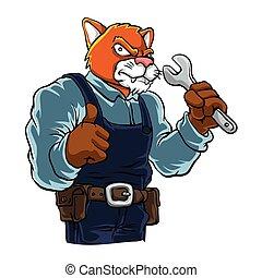 Cat cartoon Mascot