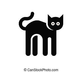cat cartoon vector icon