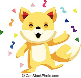 Cat celebrating Chinese New Year vector illustration on white background