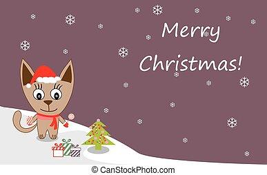 Cat christmas.eps