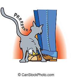 Cat clip art graphic