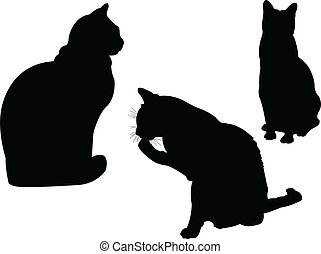 cat collection 2 - vector - illustration of cat collection 2...
