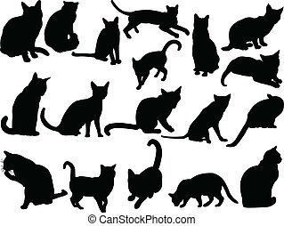 cat collection - vector