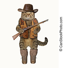 Cat cowboy 1