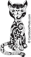 Cat decorative silhouette - Cat decorative beautiful ...