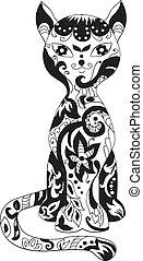 Cat decorative silhouette - Cat decorative beautiful...