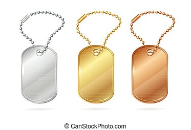Cat Dog Animal Tags or Medallion. Vector