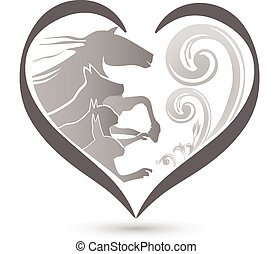 Cat dog horse and rabbit logo