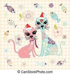 Cat Doodle Vector