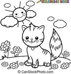 Cat enjoying outdoors