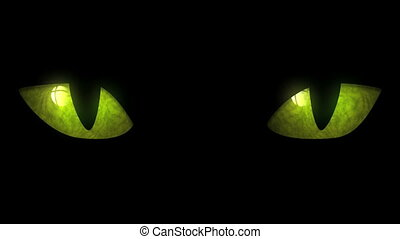 Cat Eyes Blinking Loop - Animation of cat eyes blinking. ...