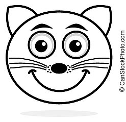 cat face icon smile