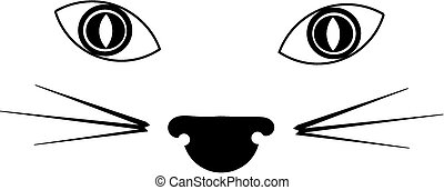 cat face silhouette - silhouette cat image