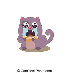 Cat Finished Its Food
