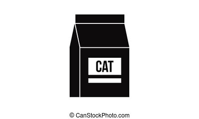 Cat food bag icon animation of best object isolated on white background for any design