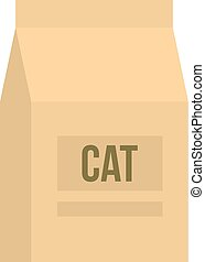 Cat food bag icon isolated