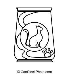 cat food bag icon