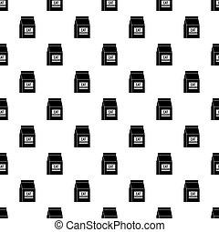 Cat food bag pattern vector