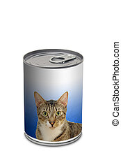 Cat food can - generic cat food can on white