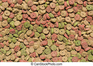 cat food, dry feed - background of dry cat food, small...