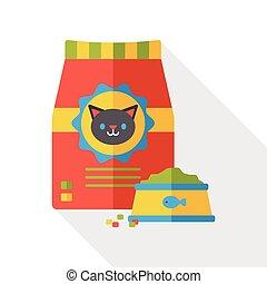 cat food flat icon
