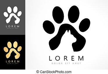 cat footprint logo