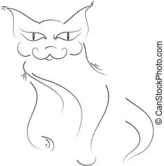 Cat freehand
