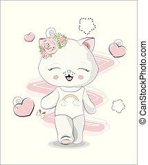 cat girl in bathing suit - the beautiful girl honey cat, ...