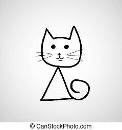 cat hand drawn