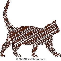 cat handwriting picture