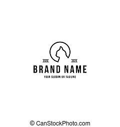 cat head design logo vector