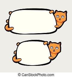 Cat Holding Banner