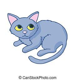 Cat icon, cartoon style