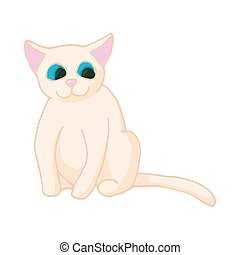 Cat icon, cartoon style