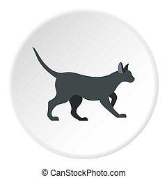 Cat icon circle