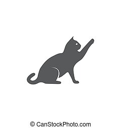 Cat icon on white background