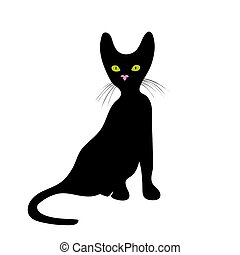 Cat icon on white background vector illustration.