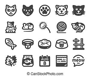 cat icon set